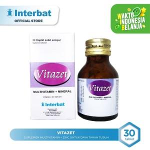 Harga vitazet suplemen multivitamin zinc untuk daya tahan tubuh   30 | HARGALOKA.COM