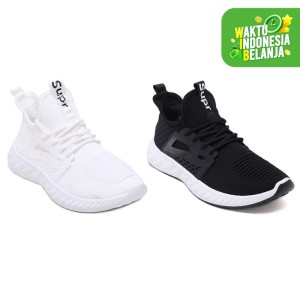 Harga pvn sepatu sneakers pria impor hitam 484   black   HARGALOKA.COM
