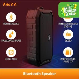 Harga tacoo bluetooth speaker wireless hi fi sound super bass | HARGALOKA.COM