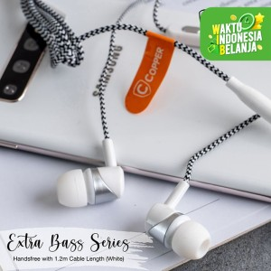 Harga copper extra bass series earphone headset handsfree cp014   | HARGALOKA.COM