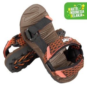 Harga sandal gunung pria palang leuser arei outdoorgear   coklat orange | HARGALOKA.COM