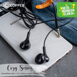 Harga copper cozy series earphone headset handsfree cp013   | HARGALOKA.COM