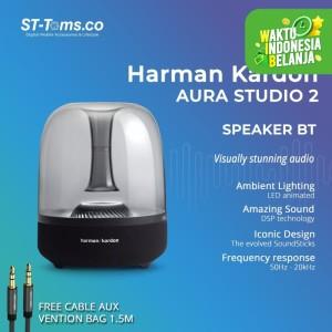 Harga harman kardon aura studio 2 wireless bluetooth speaker   hitam   free | HARGALOKA.COM