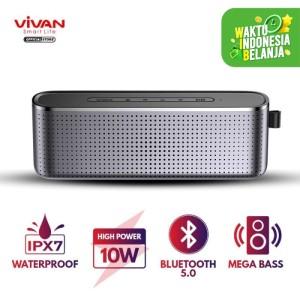Harga vivan speaker bluetooth hi fi waterproof ipx7 10w mega bass | HARGALOKA.COM