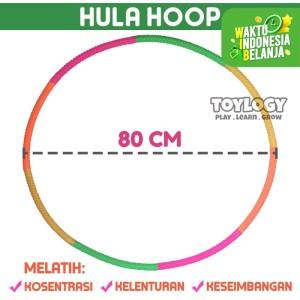 Harga mainan olahraga anak hula hoop hulahoop plastik ring sport warna | HARGALOKA.COM