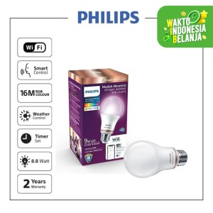 Harga philips wifi led bulb a60 e27   smart | HARGALOKA.COM