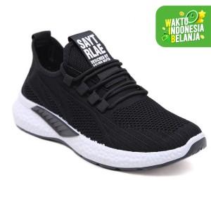 Harga pvn sepatu sneakers pria running shoes young lifestyle 454   black   HARGALOKA.COM