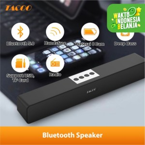 Harga tacoo bluetooth speaker tap5612 deep bass hi fi sound 1800mah 8 hour | HARGALOKA.COM