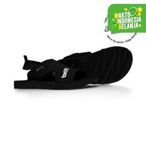 Harga sandal haji umroh traveling torch arrafa men all black   | HARGALOKA.COM