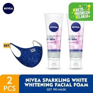 Harga nivea sparkling white whitening facial foam get 1911 | HARGALOKA.COM