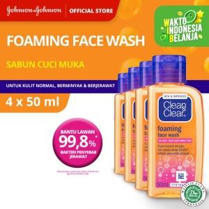 Harga clean amp clear foaming face wash 50 ml 4pcs   HARGALOKA.COM