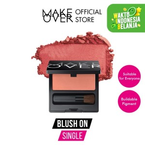 Harga make over blush on single 03 promiscious peach 6g   01 p | HARGALOKA.COM
