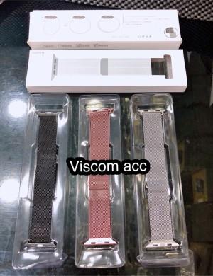 Harga strap apple watch stainless 42mm 44mm magnet ori   HARGALOKA.COM