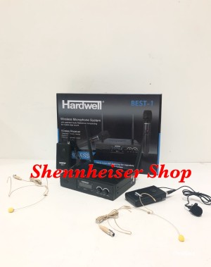 Harga mic wireless hardwell best 1 clip on and headset putih | HARGALOKA.COM