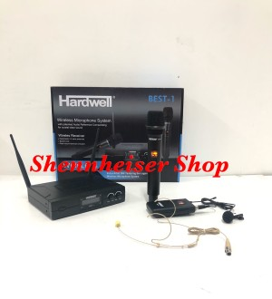 Harga mic wireless hardwell best 1 handle clip on headset | HARGALOKA.COM