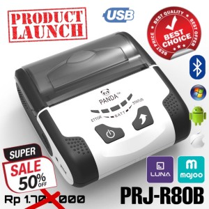 Harga printer ppob kasir thermal 80mm panda prj r80b android usb bluetooth | HARGALOKA.COM