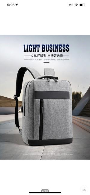Harga tas ransel tas backpack 2019 slim model banyak kantong usb   | HARGALOKA.COM
