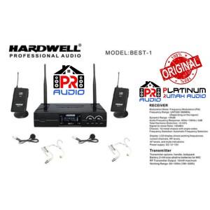 Harga mic wireless hardwell best1 best 1 original 2 clip on 2 headset | HARGALOKA.COM