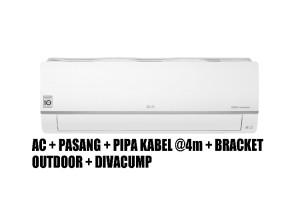 Harga ac lg 1pk e10sv5 ionizer inverter watt control wifi paket | HARGALOKA.COM