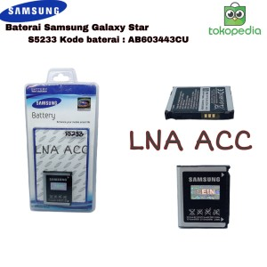 Harga battery samsung s5233 galaxy star ab603443cu original | HARGALOKA.COM