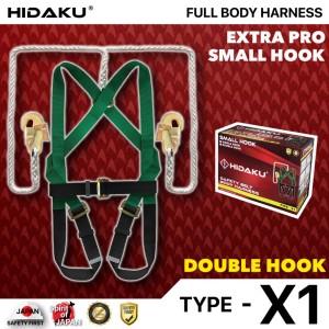 Harga full body harness hidaku type x1 double hook safety belt hidaku   HARGALOKA.COM