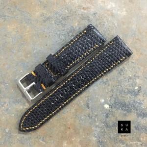 Harga tali jam tangan kulit biawak warna hitam by suka | HARGALOKA.COM