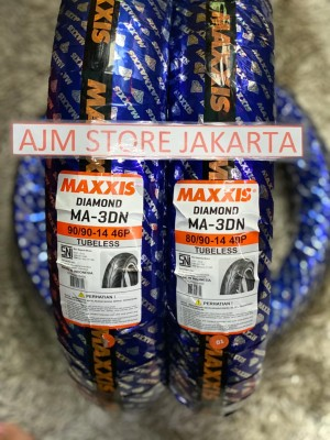 Harga maxxis ma3dn 80 90 14 amp 90 90 14 tubeless paket hemat | HARGALOKA.COM