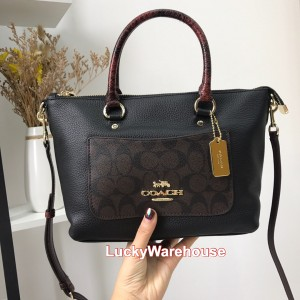 Harga coach signature exotic mini emma satchel brown   ori 100 | HARGALOKA.COM