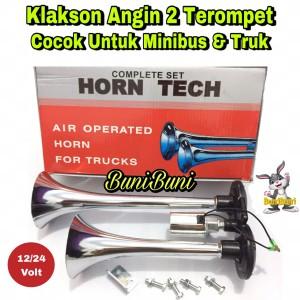Harga klakson angin air horn 2 corong terompet untuk mobil 12   24 | HARGALOKA.COM
