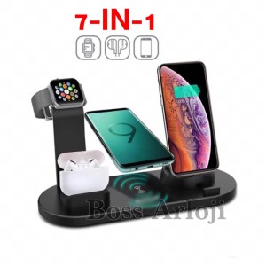 Harga 7 in 1 charging dock 3 for iphone apple watch airpods wireless | HARGALOKA.COM