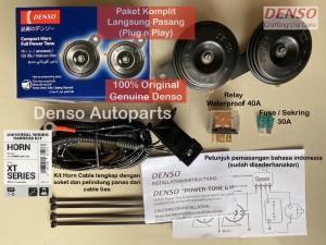 Harga klakson denso disk disc fullset include relay kit horn cable | HARGALOKA.COM