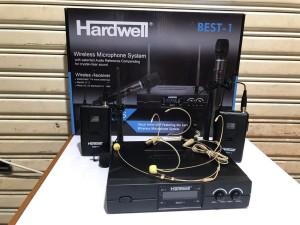 Harga mic wireless hardwell best1 2mic clip on 2mic headset original best | HARGALOKA.COM