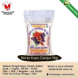 Harga beras pulen pandan wangi super cap kupu kupu bunga cianjur 5kg | HARGALOKA.COM