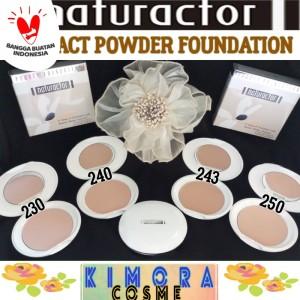 Harga naturactor compact powder foundation bedak padat two way cake powder     HARGALOKA.COM