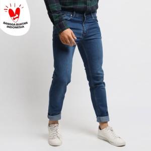 Harga vengoz celana jeans pria slim fit   electric blue   biru   HARGALOKA.COM