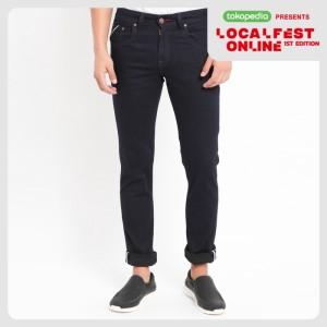 Harga papperdine 711 raw slim fit celana panjang jeans pria selvedge     HARGALOKA.COM