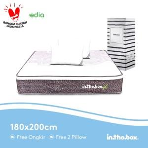 Harga kasur spring bed inthebox x ukuran 180 x 200 king | HARGALOKA.COM