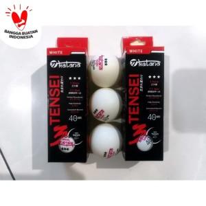 Harga bola pingpong bola tenis meja katana 40 abs 3star isi 3 murah | HARGALOKA.COM