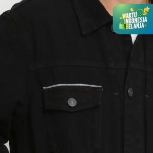 Harga papperdine 2313 black denim jacket jeans pria 14 oz non stretch     HARGALOKA.COM