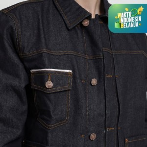 Harga papperdine 2313 raw denim jacket jeans pria 14 oz non stretch     HARGALOKA.COM