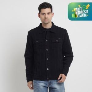 Harga papperdine 2311 black denim jacket jeans pria 14 oz non stretch   hitam   HARGALOKA.COM
