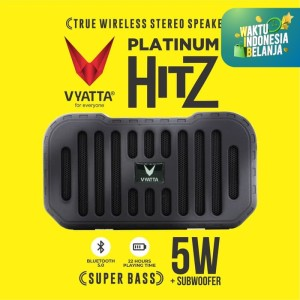 Harga vyatta platinum hitz tws speaker   stereo bluetooth usb tf mega bass   briliant | HARGALOKA.COM