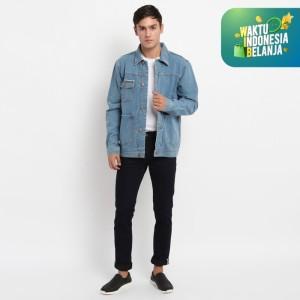 Harga papperdine 2313 bleach denim jacket jeans pria 14 oz non stretch     HARGALOKA.COM