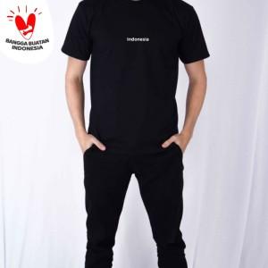 Harga kaos polos pria edisi kemerdekaan indonesia houseofcuff   hitam | HARGALOKA.COM