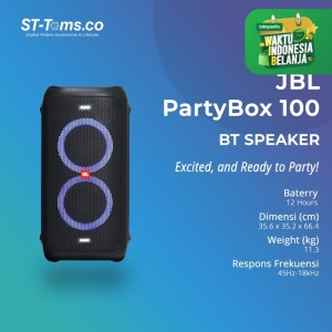 Harga jbl partybox 100 party box 100 bluetooth speaker premium high | HARGALOKA.COM