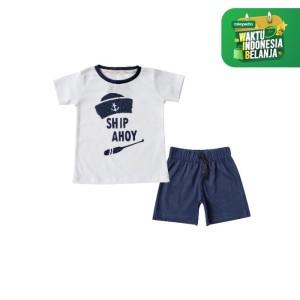 Harga bearhug setelan bayi laki laki putih ahoy ship xuf 6 18 bulan   12 18 | HARGALOKA.COM
