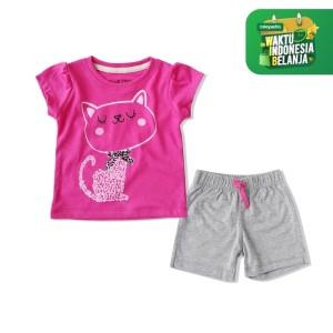Harga bearhug setelan bayi perempuan kucing loreng fanta xuf7 6 18 bulan   3 6 | HARGALOKA.COM