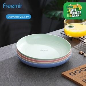 Harga freemir piring makan wheat straw dinner plate warna warni set 4 pcs   23   HARGALOKA.COM