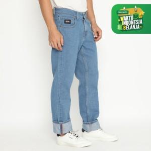 Harga papperdine 309 l blue straight fit celana panjang jeans pria denim   | HARGALOKA.COM