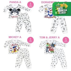 Harga katalog baju setelan piyama bayi lengan panjang newborn shirton grosir   panda a size   HARGALOKA.COM